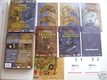 Baldur's Gate  PC Game + Exp Big Box Edition RARE